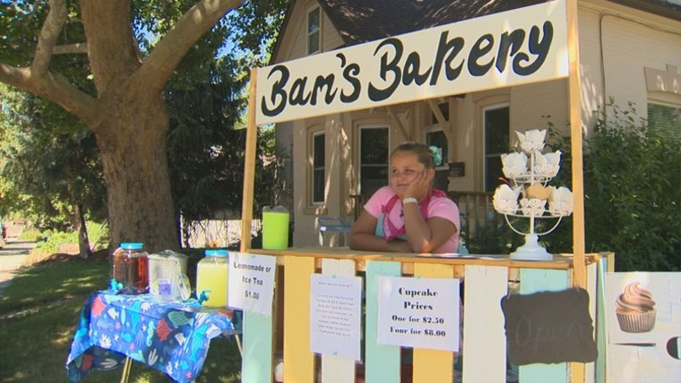 9-year-old's cupcake stand raises money for homeless