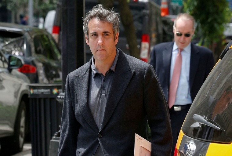 Image: U.S. President Donald Trump's personal lawyer Michael Cohen arrives at his hotel in New York City on June 20, 2018.