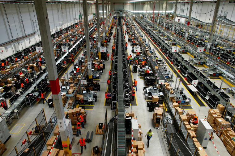 Image: The Amazon logistic center in Dortmund, Germany