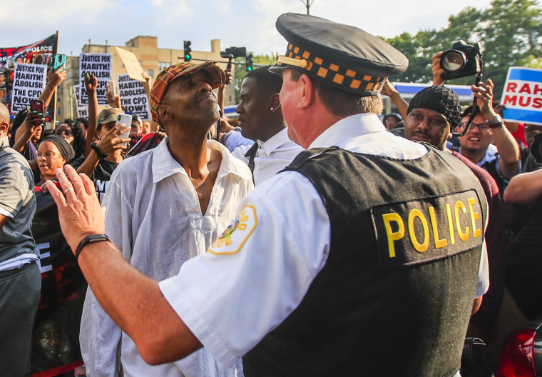 Image: Protest over police shooting
