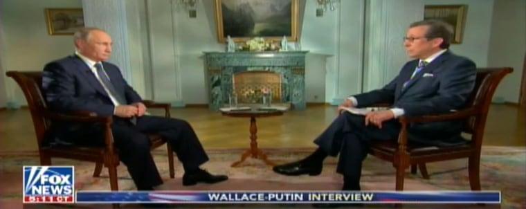 Image: Vladimir Putin and Chris Wallace