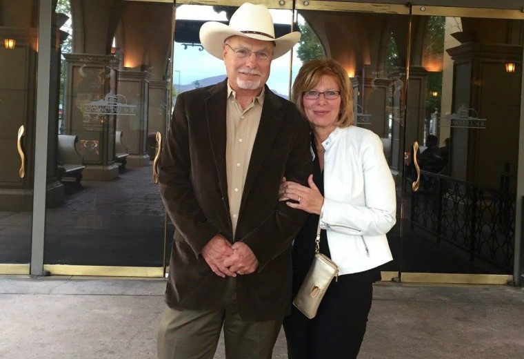 A Republican Arizona state Senate candidate Bobby Wilson with his wife