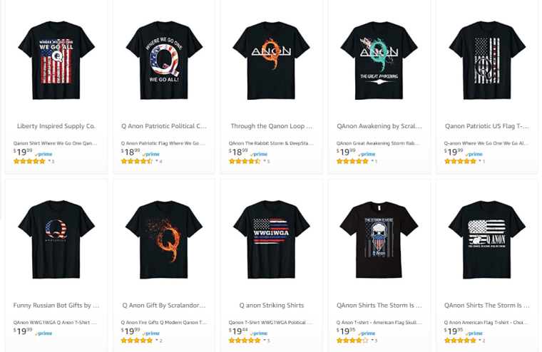 d9a78107ef Like the fringe conspiracy theory Qanon? There's plenty of merch for ...