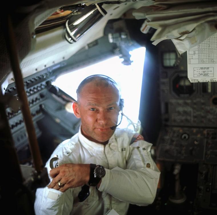 Buzz Aldrin Aboard Lunar Module Eagle