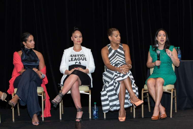 The Latinista's Yai Vargas, speaks on stage at the 2018 ColorComm Conference in Hawaii.