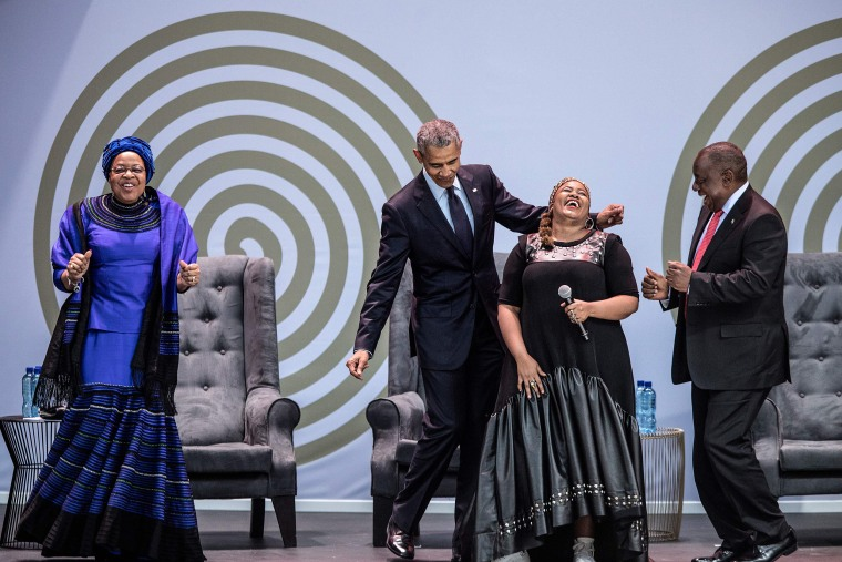 Image: Obama attends the Nelson Mandela annual lecture