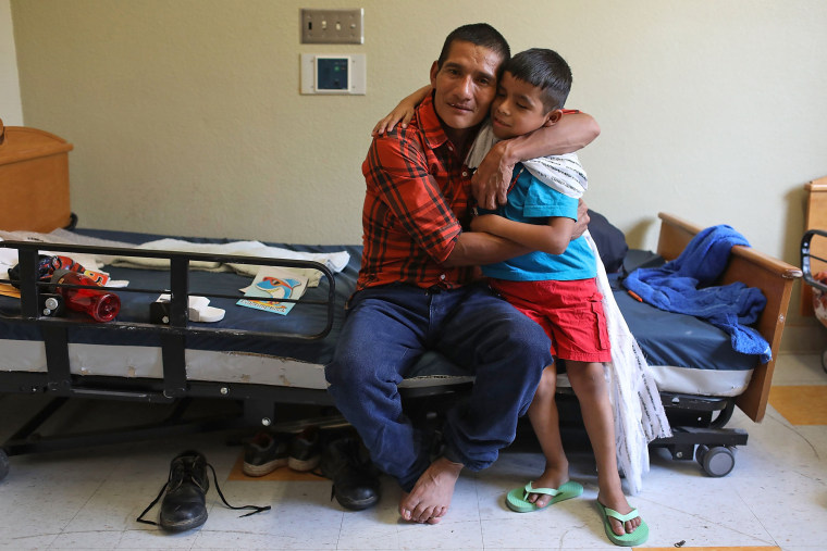 Image: Immigrants Reunited With Their Children After Release From Detention In TX