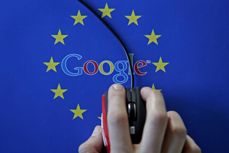 Image: Google and European Union logos