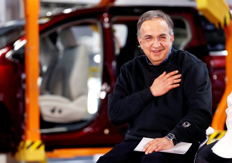 Image: FCA CEO Sergio Marchionne attends the celebration of the production launch of the all-new 2017 Chrysler Pacifica minivan at the FCA Windsor Assembly plant in Windsor