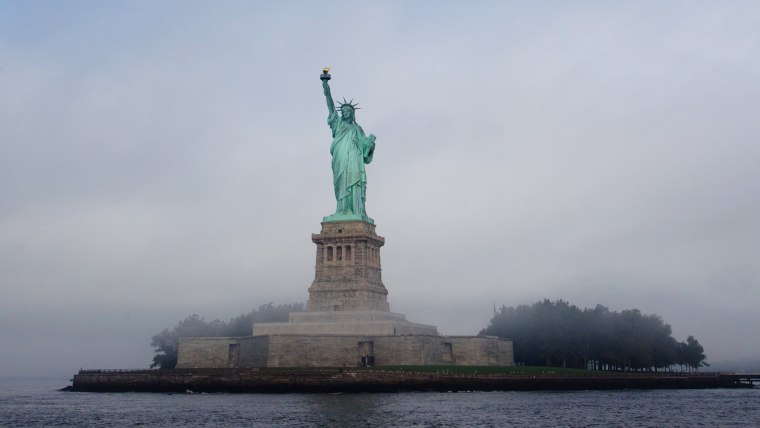 Image: Sarkozy Joins NYC Mayor Bloomberg To Celebrate 125 Years Of Statue Of Liberty