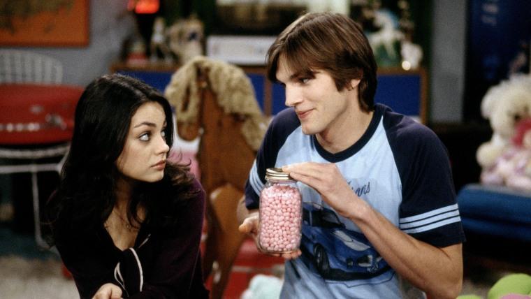 "Mila Kunis and Ashton Kutcher on ""That '70s Show"""