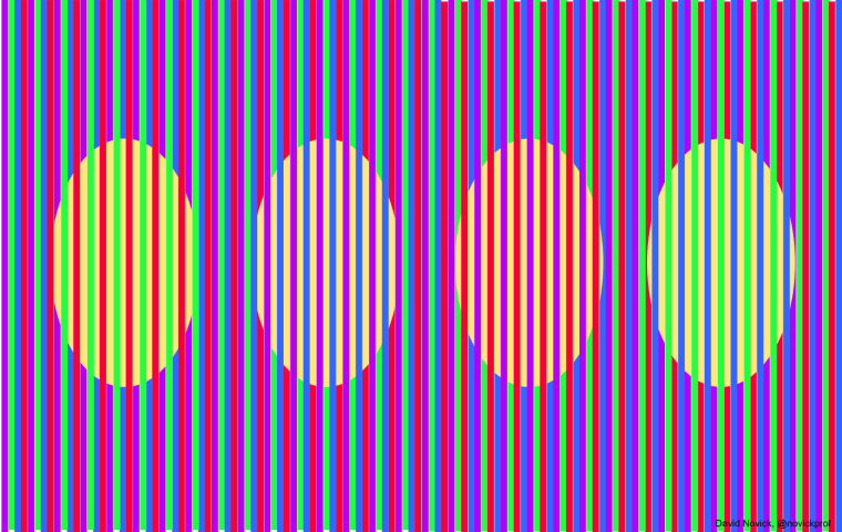 "this ""Easter egg"" graphic is an example of the Munker illusion"