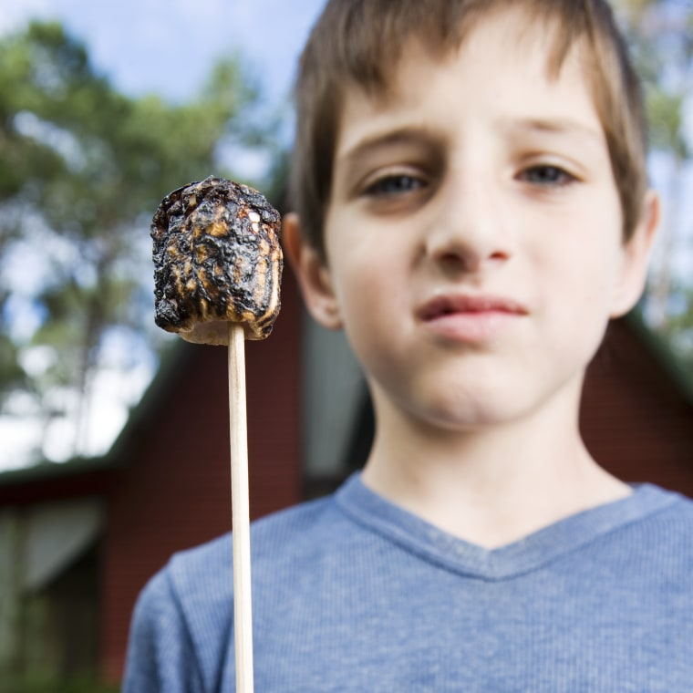 Boy with Roasted Marshmallow