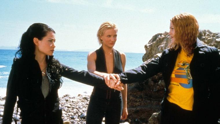 """Charlie's Angels"" co-stars Lucy Liu, Cameron Diaz, Drew Barrymore"