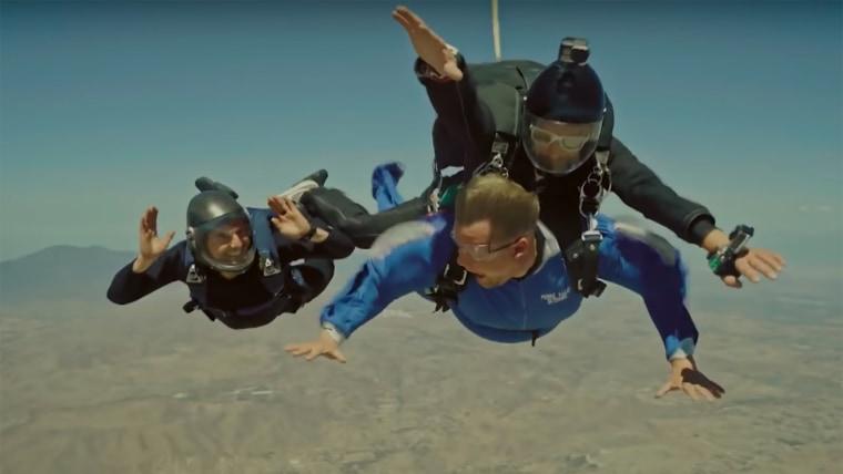 James Corden, Tom Cruise, Skydiving