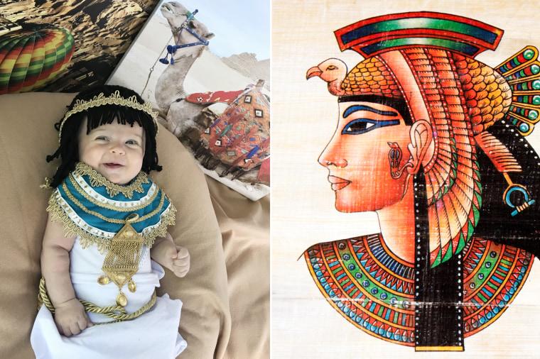 Baby Liberty as Egyptian ruler Cleopatra.