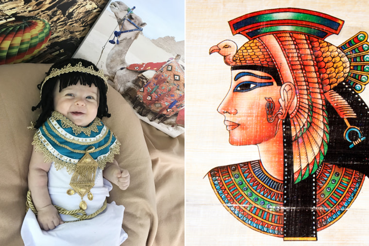 Baby Liberty as Egyptian ruler Cleopatra.