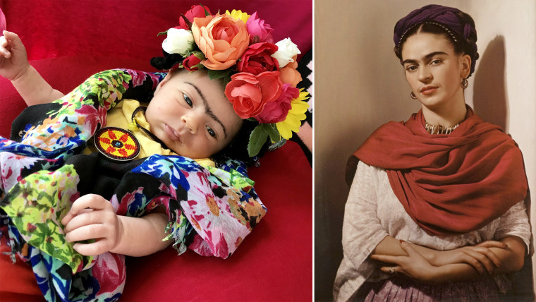 Baby Liberty dressed up as Mexican artist Frida Kahlo.