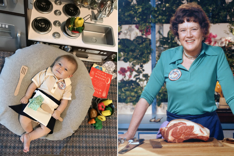 Baby Liberty as chef, author and television personality Julia Child.