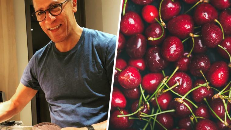 Lester Holt cherry cobbler