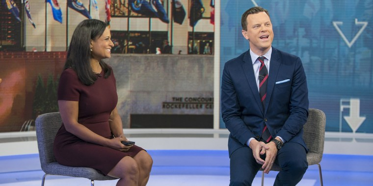 Kristen Welker and Willie Geist on Sunday TODAY