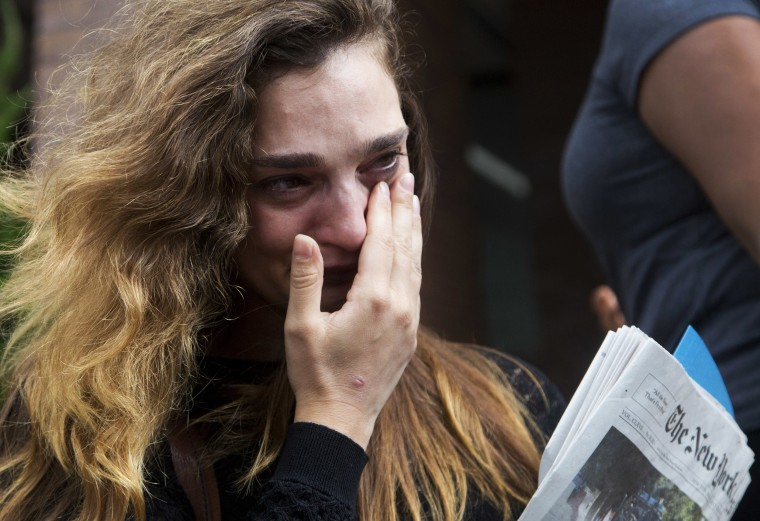 Image: New York Daily News staff reporter Chelsia Rose Marcius cries