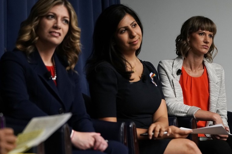 Image: Women running for office host a #MeToo discussion