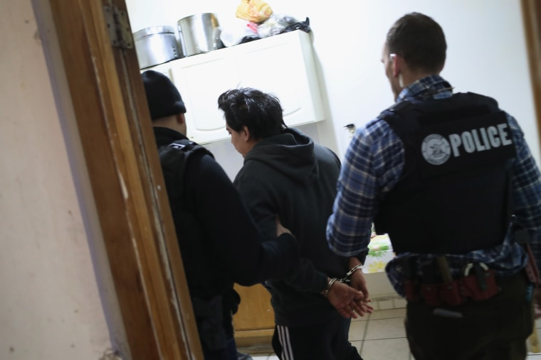 Image: U.S. Immigration and Customs Enforcement (ICE), officers arrest an undocumented Mexican immigrant