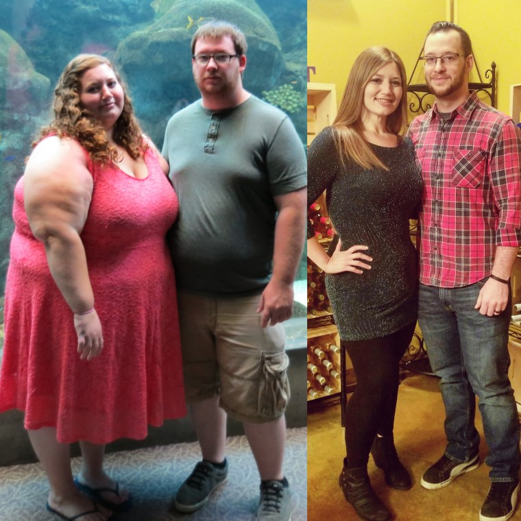 Once a 765-pound couple, Lexi and Danny Reed have now replaced date nights on the couch with kayaking, hiking and even plans to bungee jump.