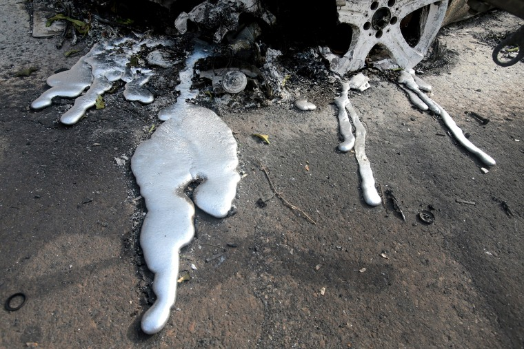 Image: 26 charred bodies found in Argyra Akti, Mati