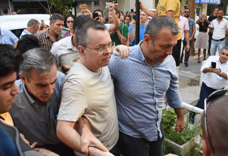 Image: North Carolina pastor Andrew Brunson is released from Aliaga Prison in Izmir