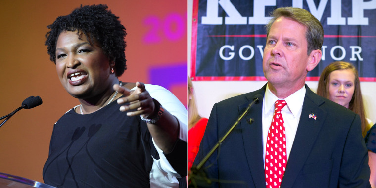 Democrat Stacy Abrams and Republican Brian Kemp.