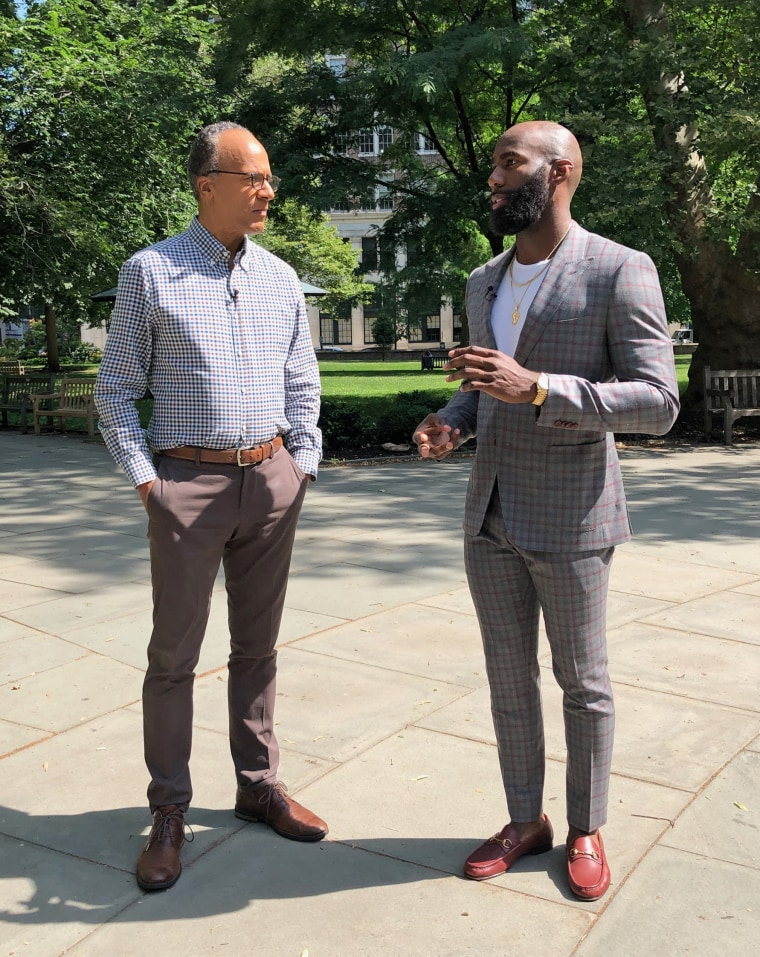 Philadelphia Eagles safety Malcolm Jenkins details his take on the controversial protests during NFL games with Nightly News anchor Lester Holt.