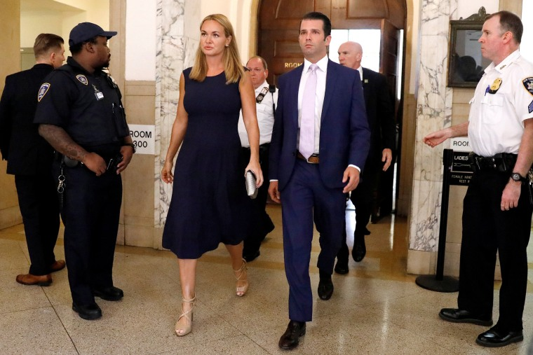 Image: Donald Trump Jr. and his wife Vanessa appear at State Supreme Court for divorce hearing in New York