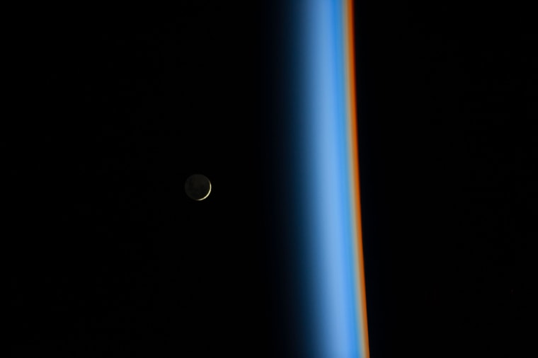 crescent moon rising nasa