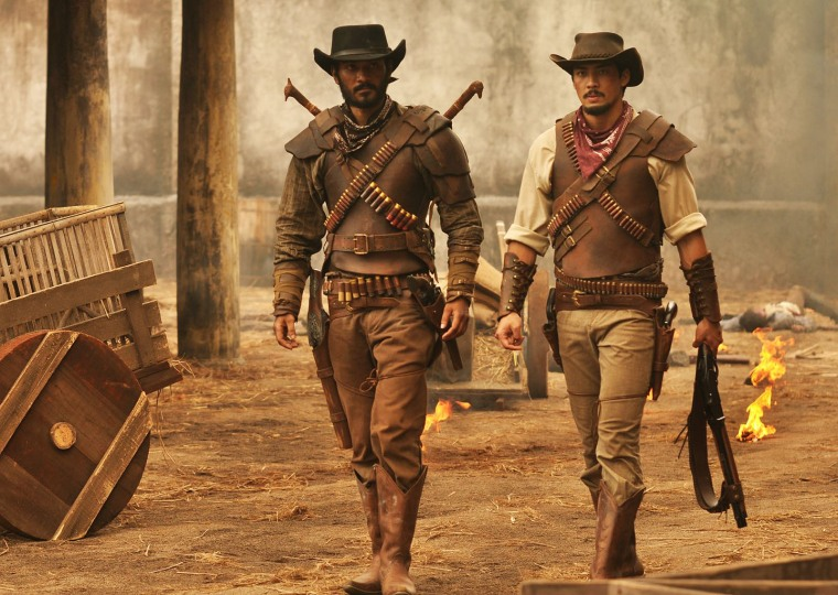 "Ario Bayu and Yoshi Sudarso in ""Buffalo Boys"""