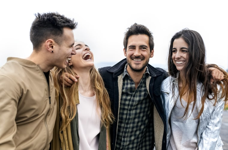 Image: Group of friends laughing