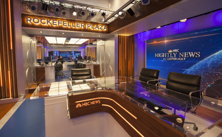 The new Nightly News studio at 30 Rockefeller Plaza in New York on July 12, 2017.