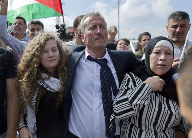 Image: Ahed, Bassem and Nariman Tamimi.