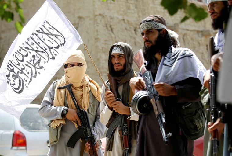 Image: Taliban celebrate a ceasefire in Nangarhar province, Afghanistan