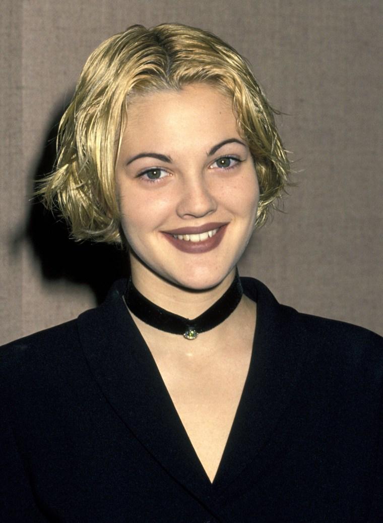 Drew Barrymore '90s eyebrows