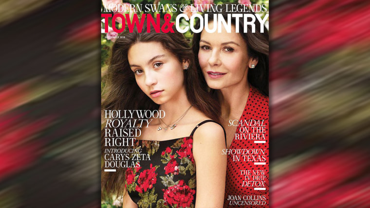 Catherine Zeta-Jones and daughter Carys on cover of Town and Country