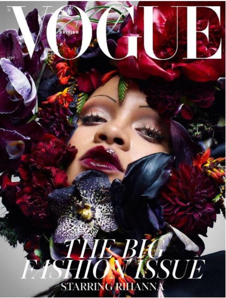Rihanna Eyebrows British Vogue