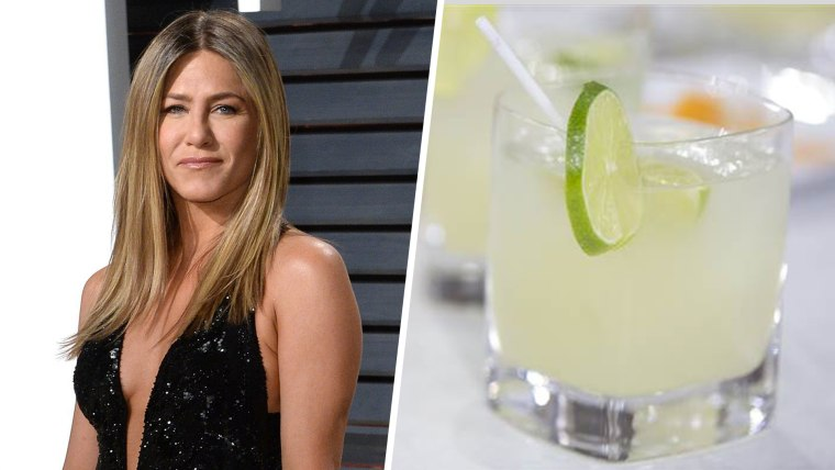 Jennifer Aniston and a margarita