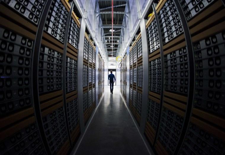 Image: A server room at a Facebook data center