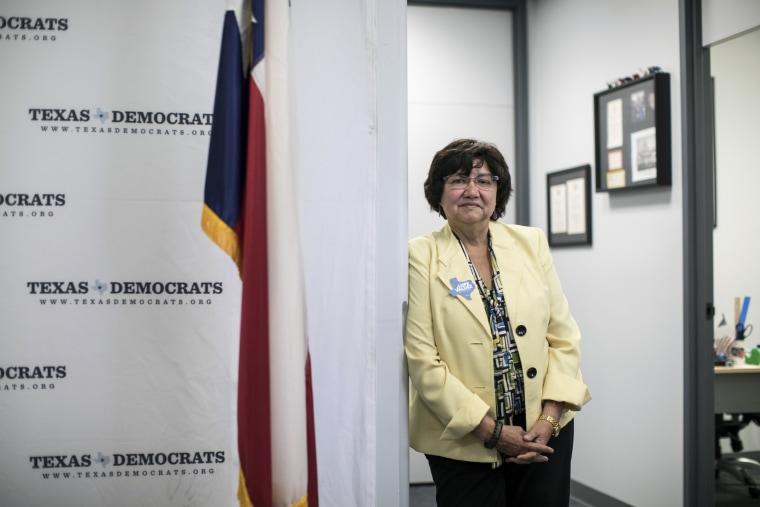Image: Lupe Valdez, the Democratic nominee for governor of Texas, at the Texas Democratic Party headquarters in Austin, Texas.