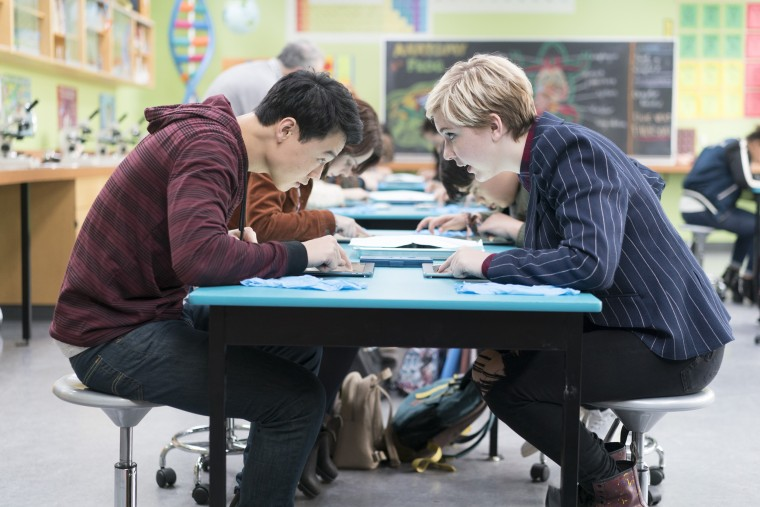 """Image: Ricky He and Cozi Zuehlsdorff in """"Freaky Friday"""""""