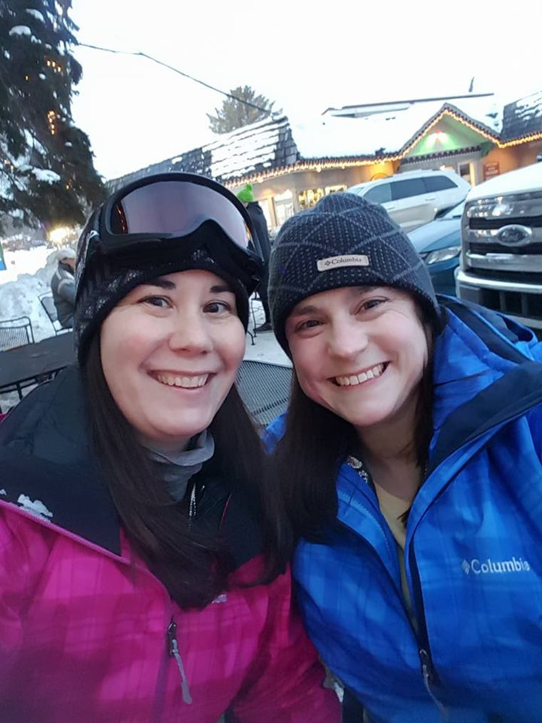 image: Kristy, left, and Dana Dumont