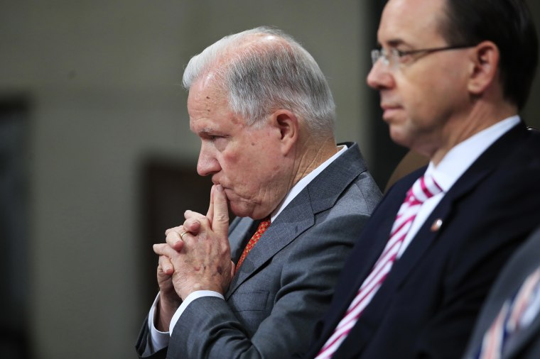 Image: Jeff Sessions, Rod Rosenstein