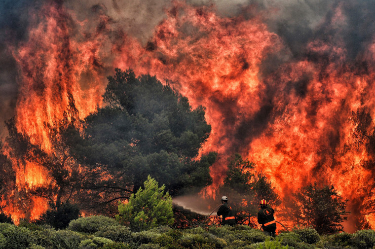 Image: Greece Fire